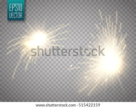 Shutterstock Set of metal welding with sparks or sparklers isolated on transparent background. Vector illustration