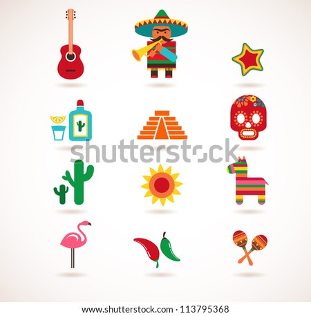 set of mexico vector