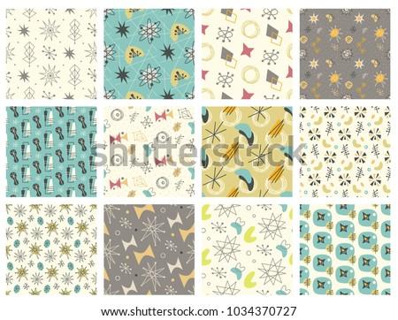 Mid Century Pattern Vectors Download Free Vector Art Stock