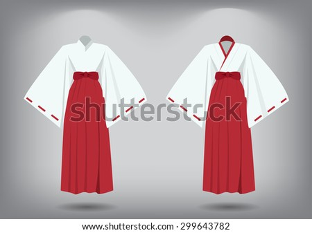 set of miko suit  traditional