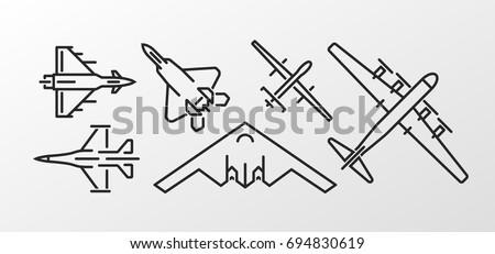 set of military aircraft