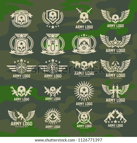 set of military and armed