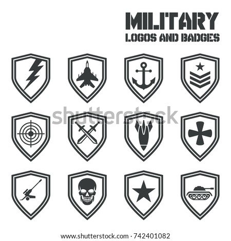 royalty free military logos of special forces set 289992446 stock photo. Black Bedroom Furniture Sets. Home Design Ideas