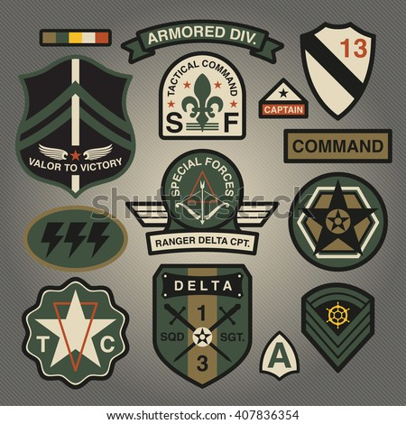 Set Of Military and Army Patches and Badges 3