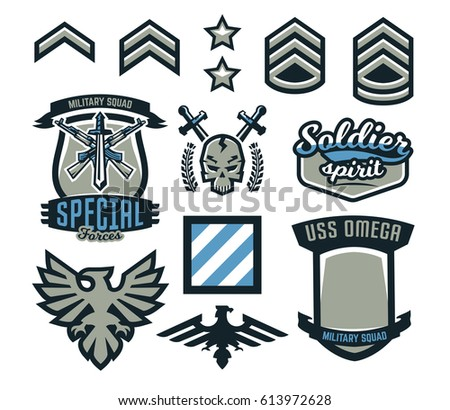 set of military and military
