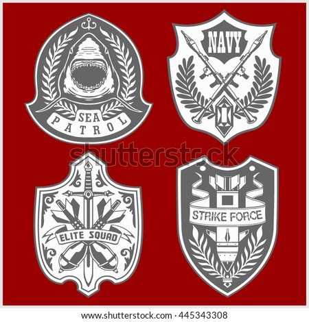 set of military   army patches