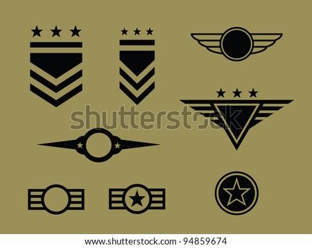 Set of Military Badge/ Symbols.