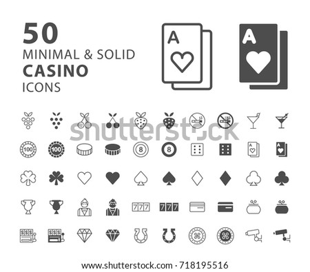 set of 50 minimal and solid