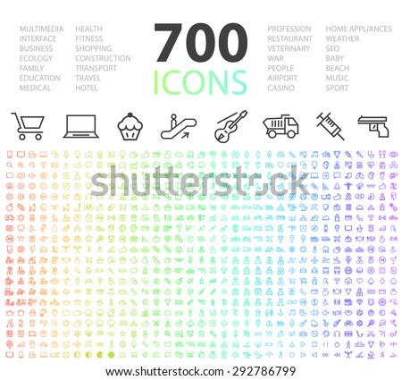 set of 700 minimal modern