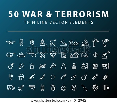 set of 50 minimal thin line war