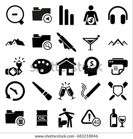 set of 25 miscellaneous icons