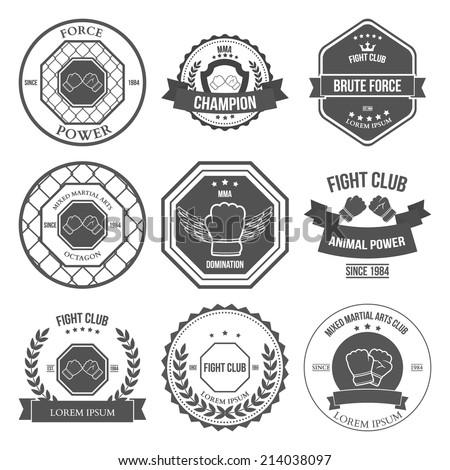 set of mixed martial arts