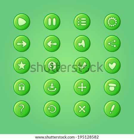 set of mobile bright green