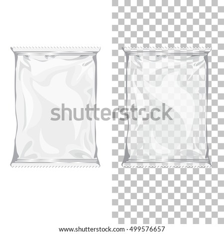 a0eb4f0e3b0c9 Set of Mockup shopping disposable nylon box or package. Blank 3d glossy  pouch or pack
