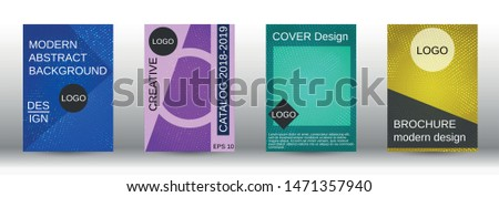 Set of modern abstract covers. Colorful mosaic design. Modern abstract background. Modern design template for banner, poster, booklet, report, magazine.