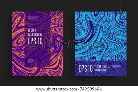 set of modern artistic posters