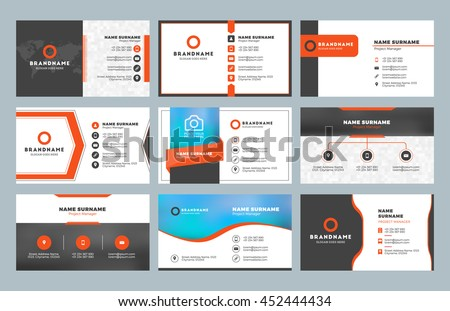 Black Business Card Vector Template Download Free Vector Art