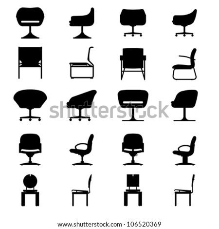 Set Of Modern Chair Vector 106520369 Shutterstock