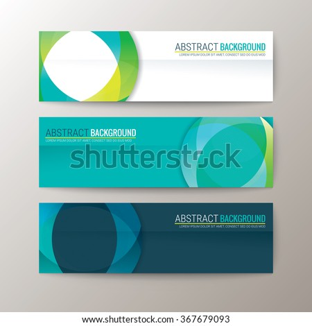 Set of modern design banners template with abstract circle shape pattern background