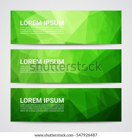 set of modern design banners