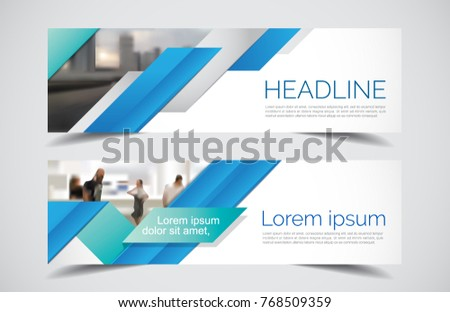 Set of modern design - Vector web banners design background or header templates, colorful horizontal.