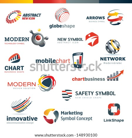 Set of modern designed icons