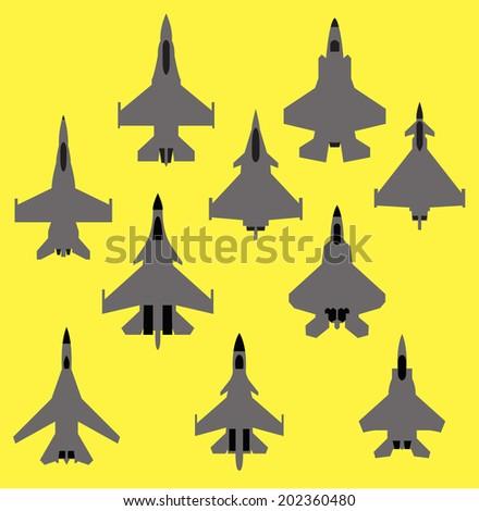 set of 10 modern fighter