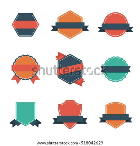 Set of Modern Flat Design Style Badges. Vintage label and Badges. #518042629