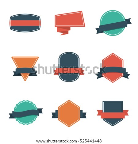 Set of Modern Flat Design Style Badges. Vintage Label and Badges - Vol. 3. #525441448
