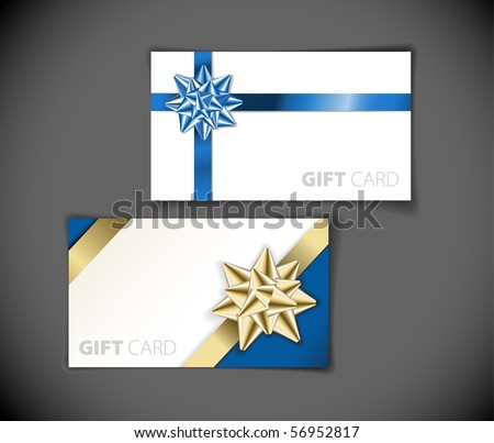 Set of modern gift card templates