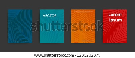 Set of modern paterns on dark background. Vector illustration suitable for flyers, brochures, banners.