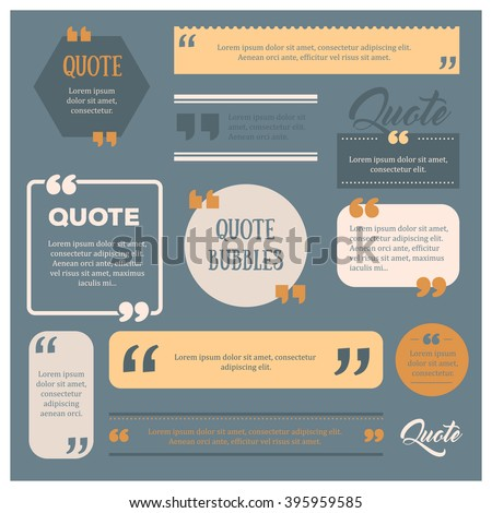 set of modern quote bubbles