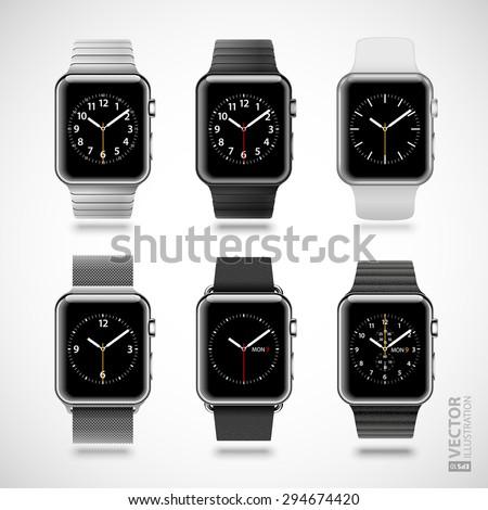 set of 6 modern shiny smart