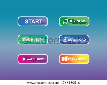 Set Of Modern Style Buttons, vector Illustration, can be use for website