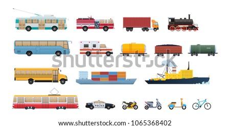 set of modern transport  cars