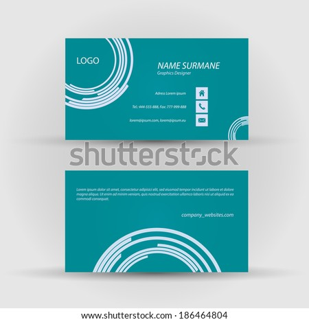 Modern pixel business card vector design download vetores e set of modern vector business card template front and back side reheart Gallery