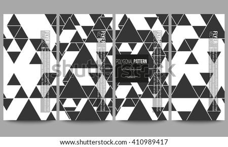 set of modern vector flyers