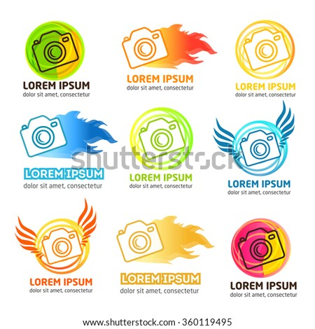 set of modern vector photo