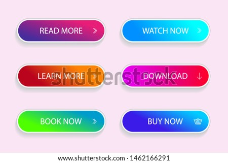 Set of modern vivid buttons. Grident button of submit, download for app. vector illustration eps10