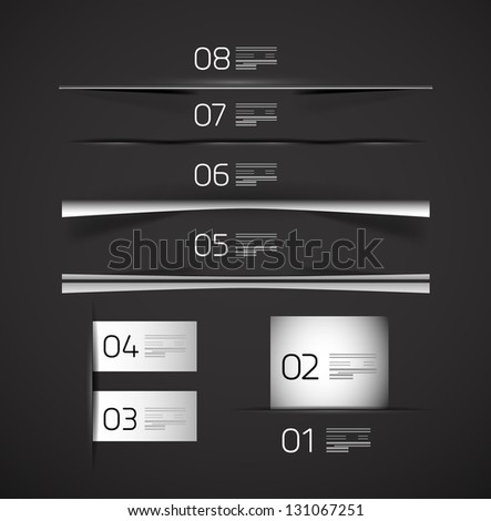 Set of modern web box shadows and dividers