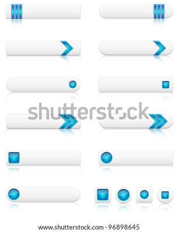 Set of modern web buttons. Vector file.