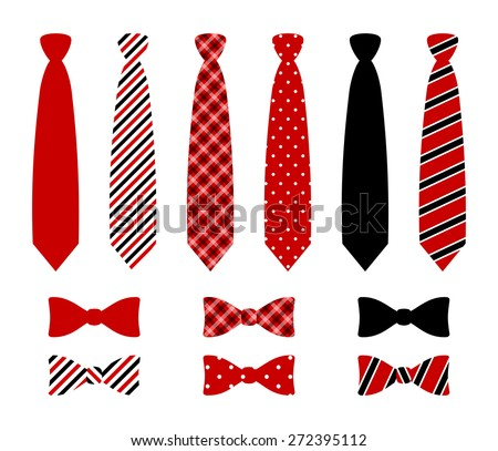 Free vector business ties download free vector art stock graphics set of monochrome plaid checkered diagonal lined and polka dot silk ties and ccuart