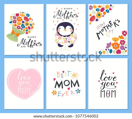 flat mothers day vector banner template download free vector art