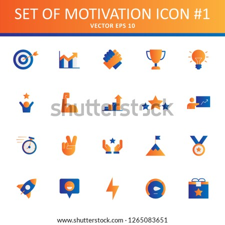 set of motivation icon with fulcolor concept and modern style use for presentation pictogram, web and mobile app icon colelction design vector eps 10