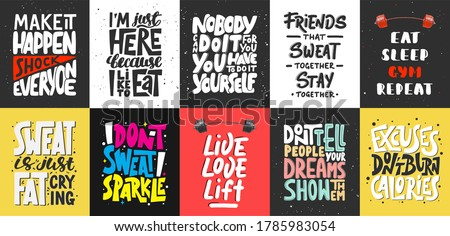 set of 10 motivational and