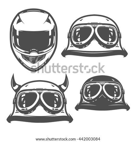 set of motorcycle helmet
