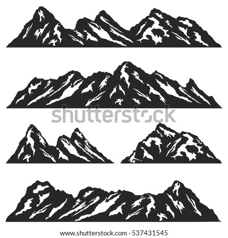 set of mountain ridges