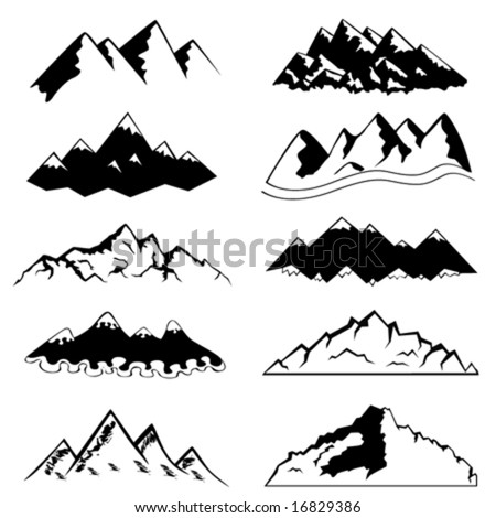 Free Stock Vector on Set Of Mountain Vector   Stock Vector