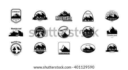 set of mountains logotypes....