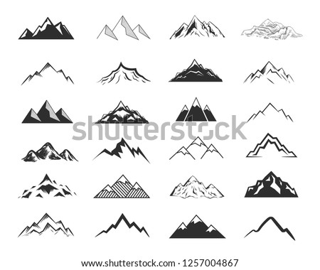 stock-vector-set-of-mountais-shapes-isolated-on-white-background-vector-illustration